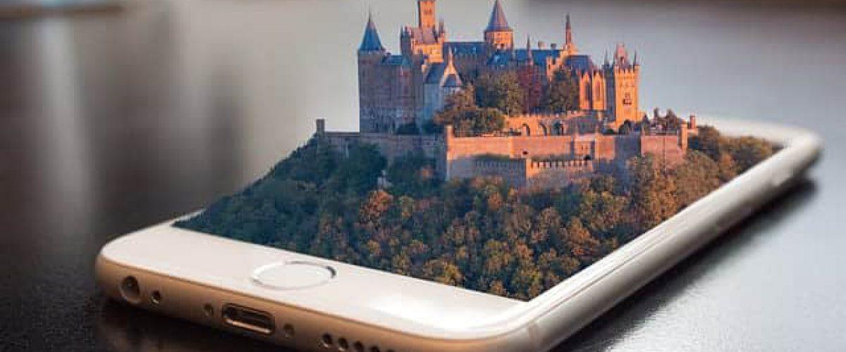 עיר עתיקה עולה מתוך האייפון